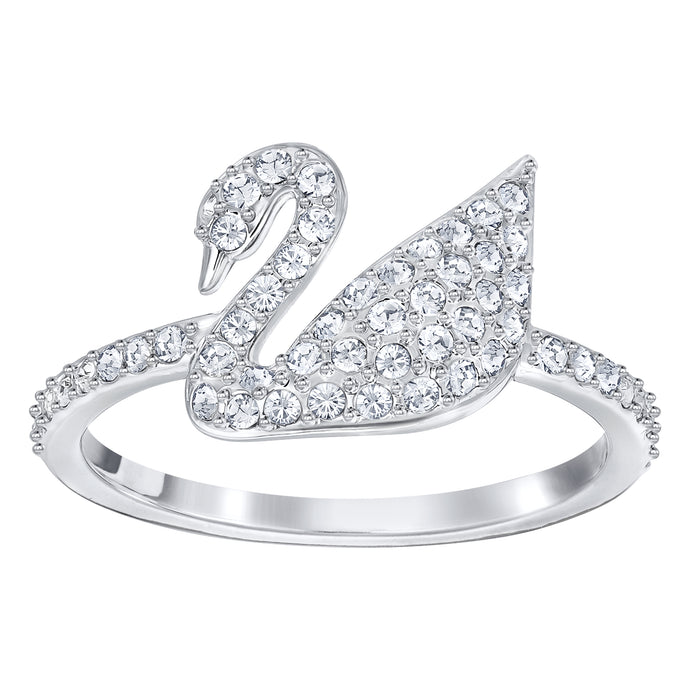 Iconic Swan Ring, Rhodium Plating