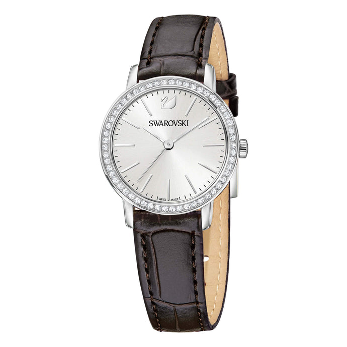 Graceful Mini Watch, Brown, Stainless Steel