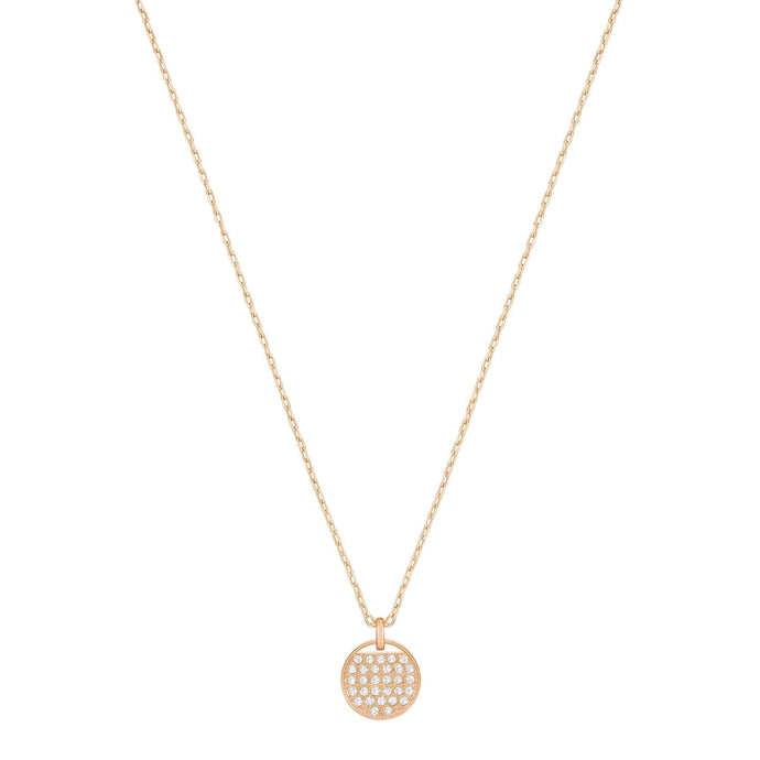 Swarovski Ginger Pendant, White, Rose Gold Plated