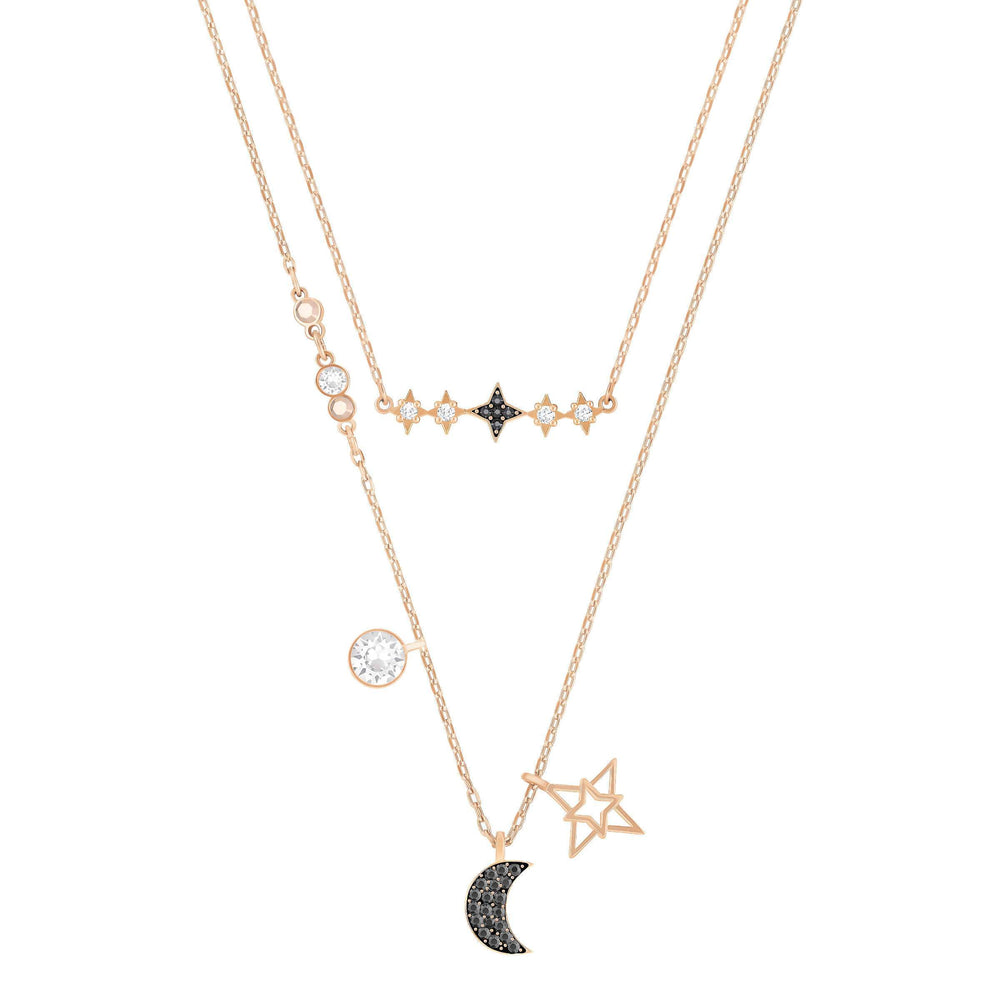 Swarovski Glowing Necklace Set, Moon, Multi-Coloured, Mixed Plated