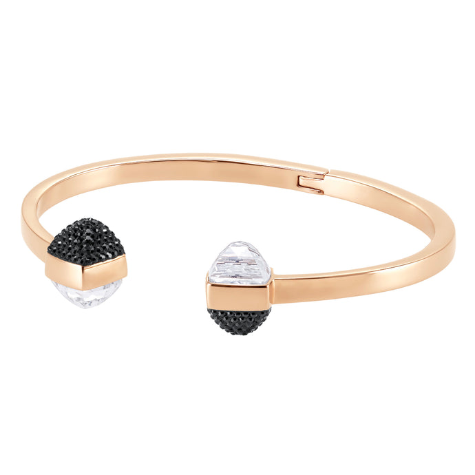 Glance Bangle, Multi-colored, Rose-gold tone plated