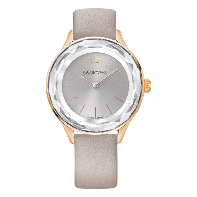 Swarovski Octea Nova Watch, Taupe, Rose Gold Tone