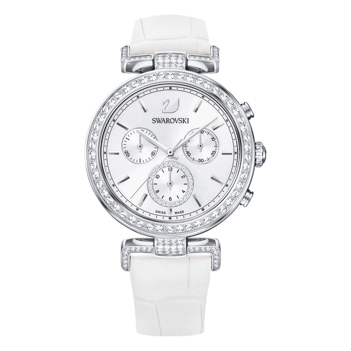 Swarovski Era Journey Watch, White, Stainless Steel