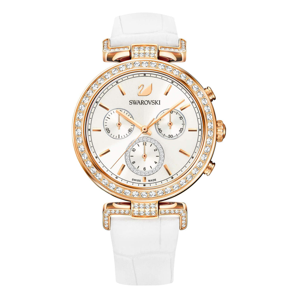 Swarovski Era Journey Watch, Purple, Rose Gold Tone
