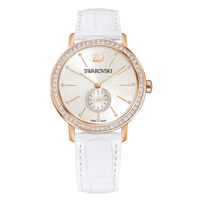 Swarovski Graceful Lady Watch, White, Rose Gold Tone