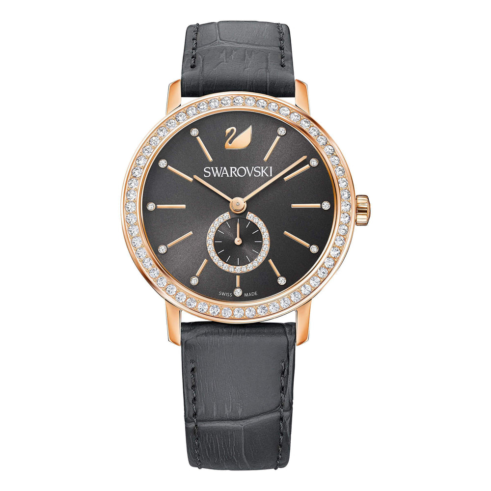 Swarovski Graceful Lady Watch, Gray, Rose Gold Tone