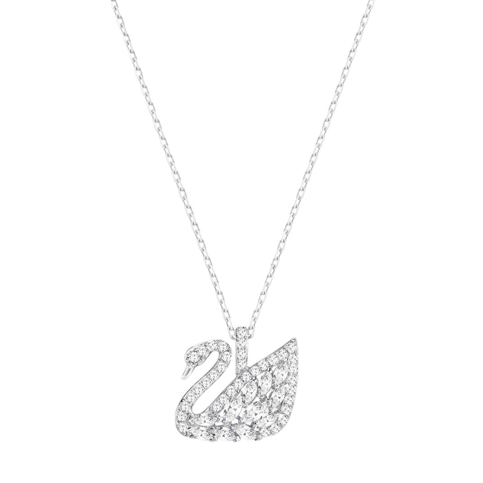 Swarovski Swan Lake Pendant, Small, White, Rhodium Plating