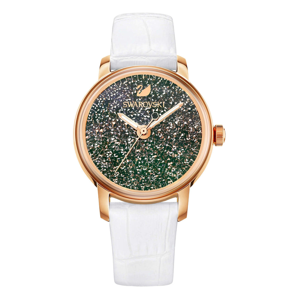 Swarovski Crystalline Hours Watch, White, Rose Gold Tone
