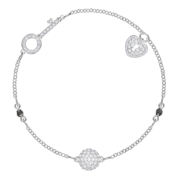 Swarovski Swarovski Remix Collection Lock, White, Rhodium Plating