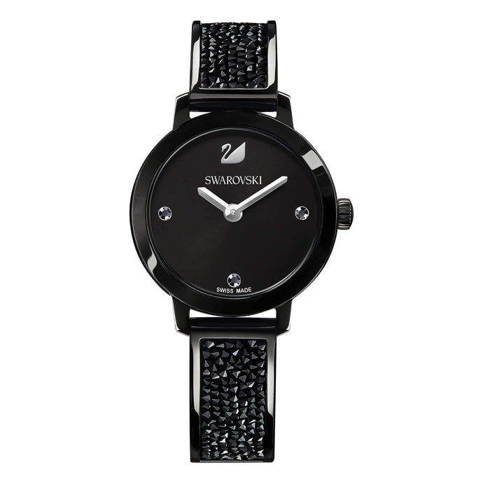 Swarovski Cosmic Rock Watch, Metal Bracelet, Black