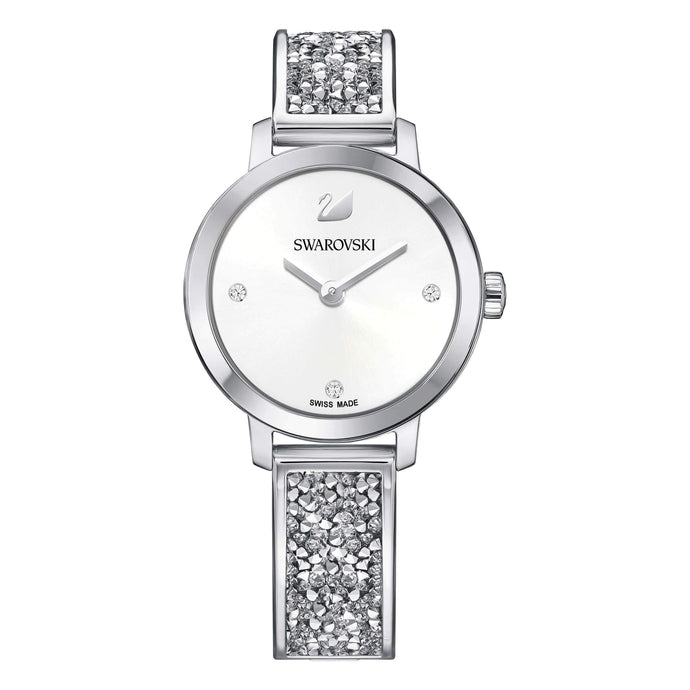 Swarovski Cosmic Rock Watch, Metal Bracelet, White, Silver Tone
