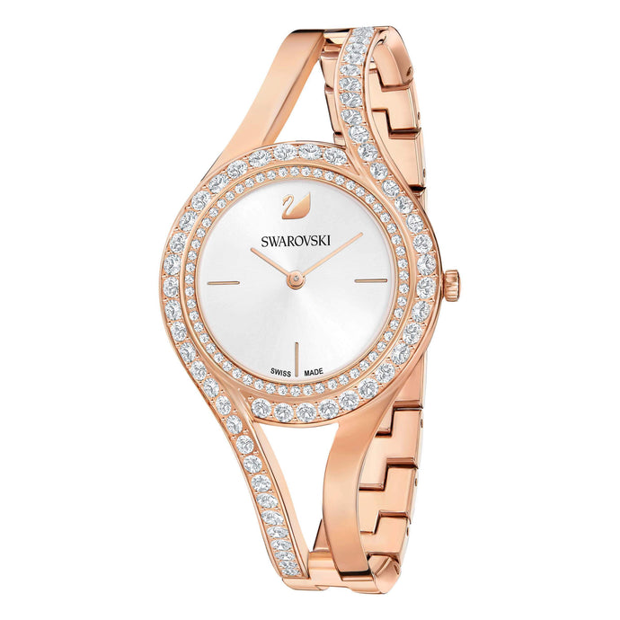 Swarovski Eternal Watch, Metal Bracelet, White, Rose Gold Tone