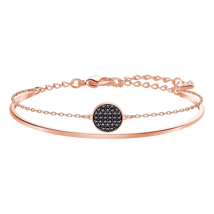 Swarovski Ginger Bangle, Gray, Rose Gold Plating