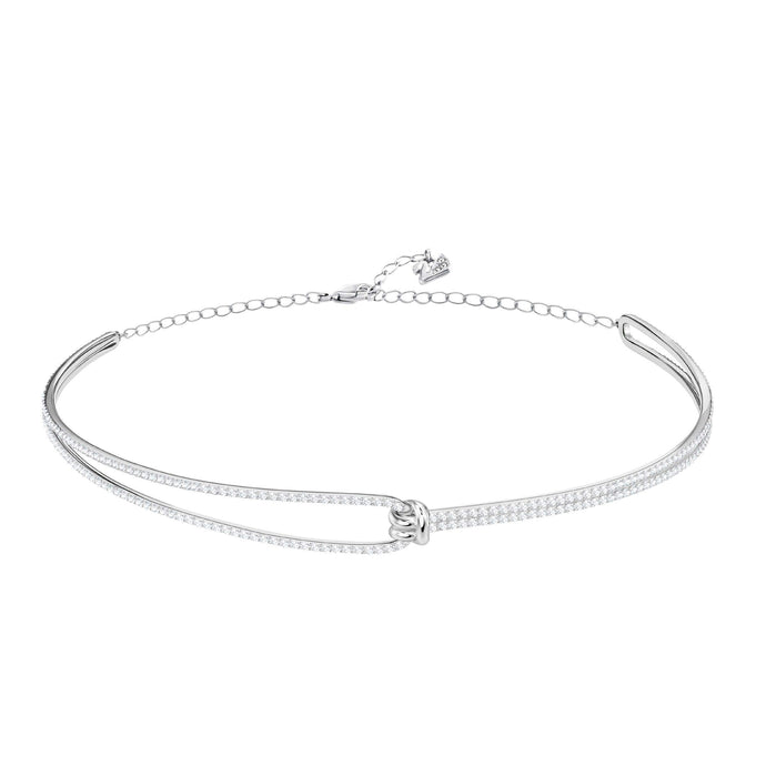 Swarovski Lifelong Choker, White, Rhodium Plating