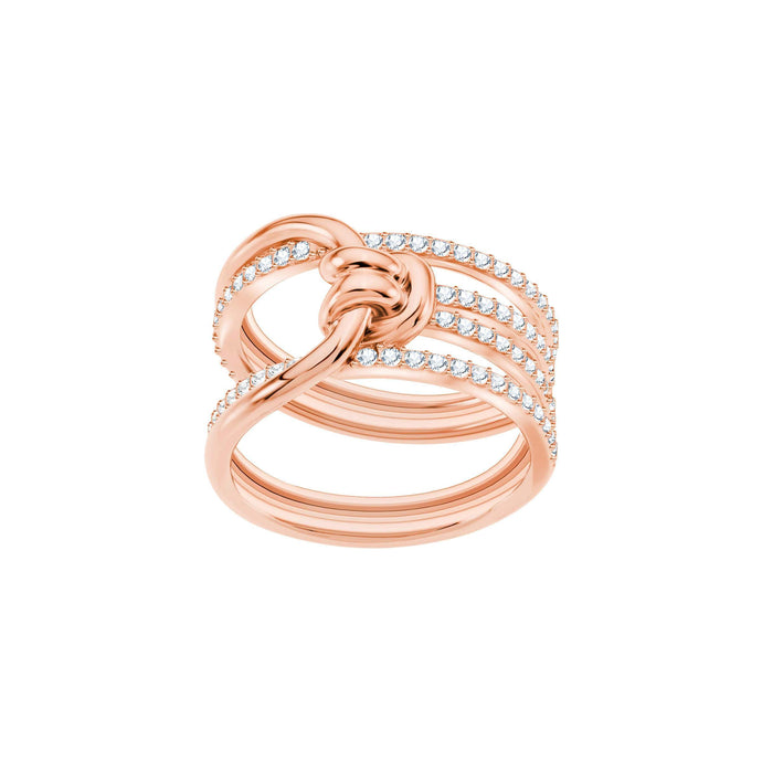 Swarovski Lifelong Wide Ring, White, Rose Gold Plating