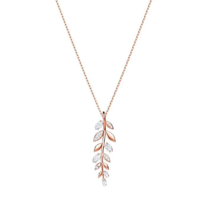 Swarovski Mayfly Pendant, White, Rose Gold Plating