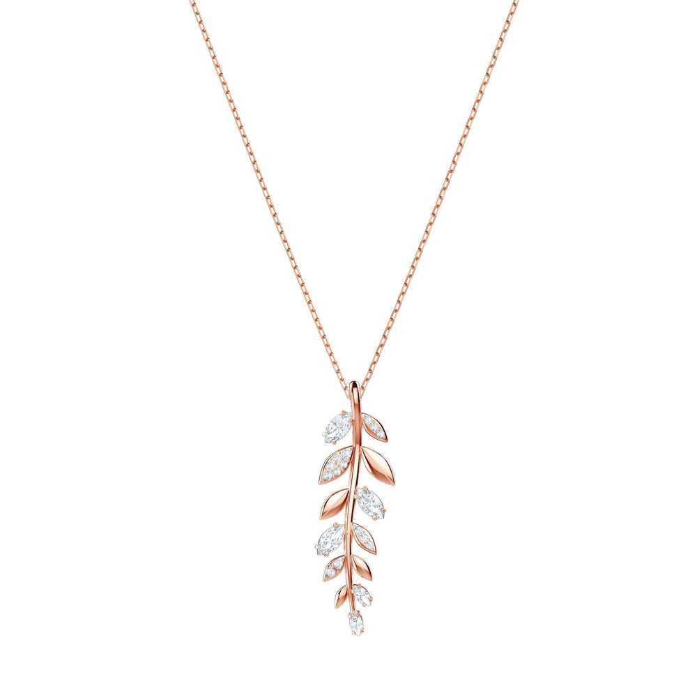 Mayfly Pendant, White, Rose Gold Plating
