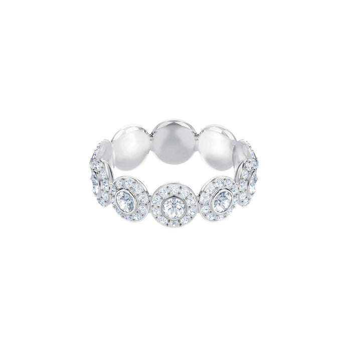 Swarovski Angelic Ring, White, Rhodium Plating