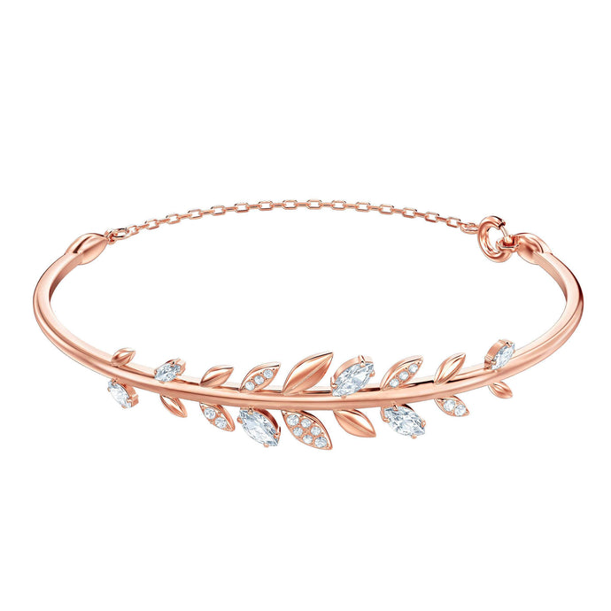 Swarovski Mayfly Bangle, White, Rose Gold Plating