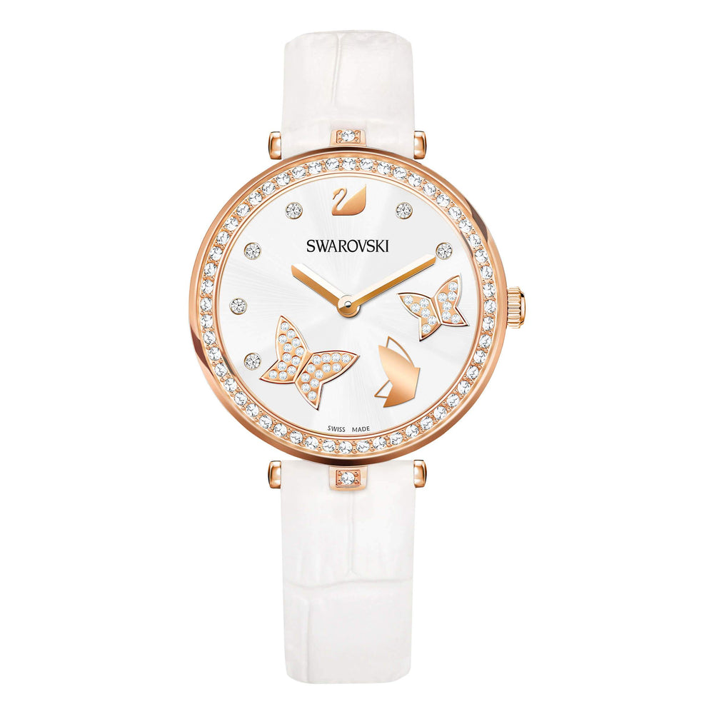 Swarovski Aila Dressy Lady Watch, Butterfly, Rose Gold Tone