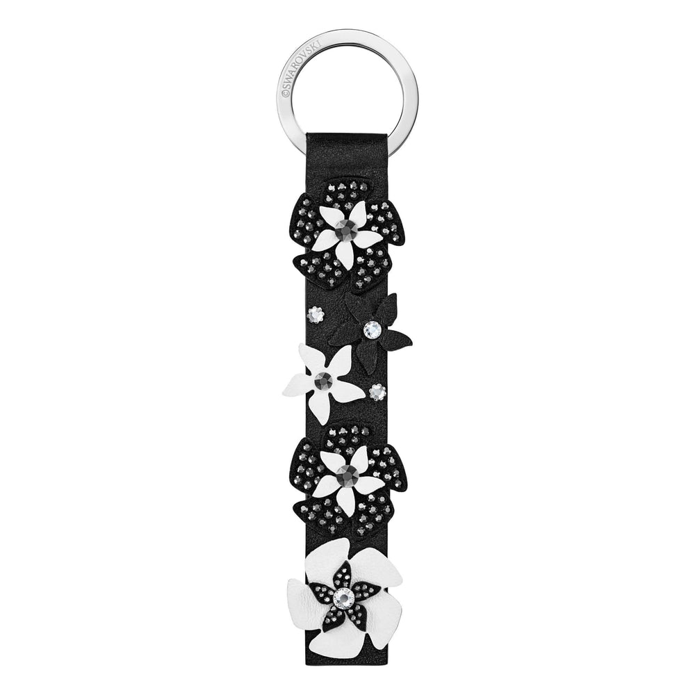 Swarovski Mazy Key Ring, Black, Stainless Steel
