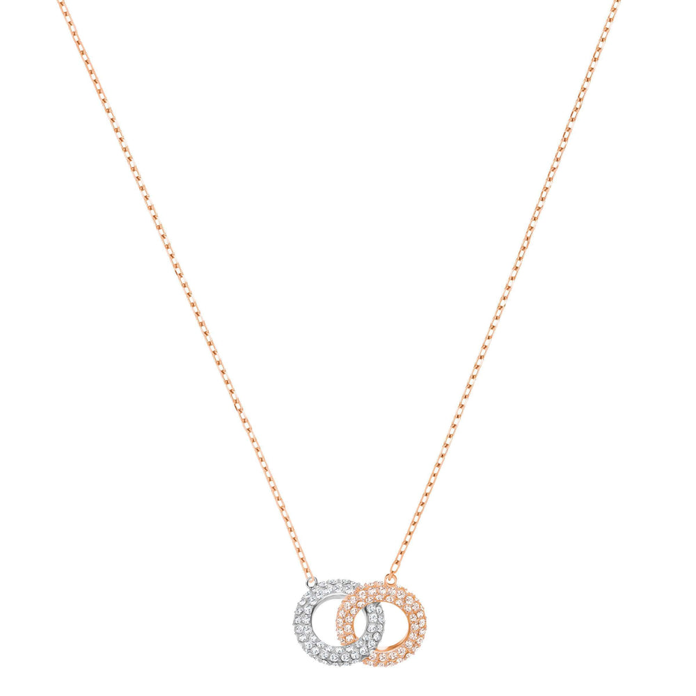 Swarovski Stone Necklace, Multi-Colored, Rose Gold Plating