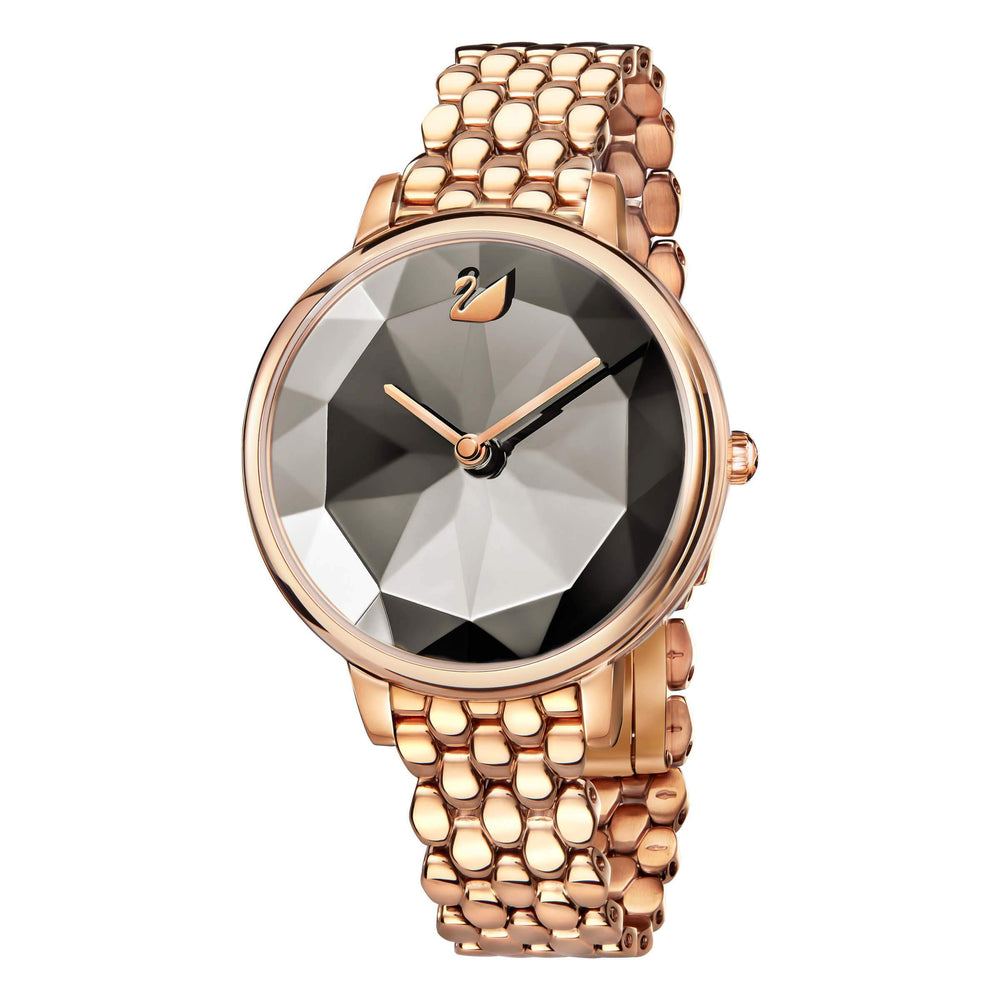 Swarovski Crystal Lake Watch, Metal Bracelet, Gray, Rose Gold Tone