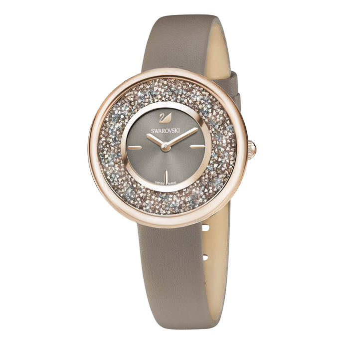 Swarovski Crystalline Pure Watch, Leather Strap, Champagne Gold Tone