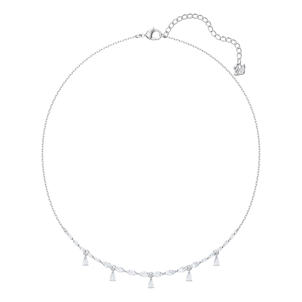 Swarovski Louison Necklace, Small, White, Rhodium Plating