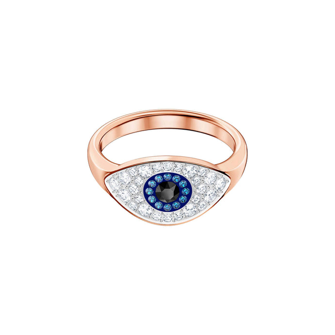 Swarovski Duo Evil Eye Ring, Multi-Colored, Rose Gold Plating