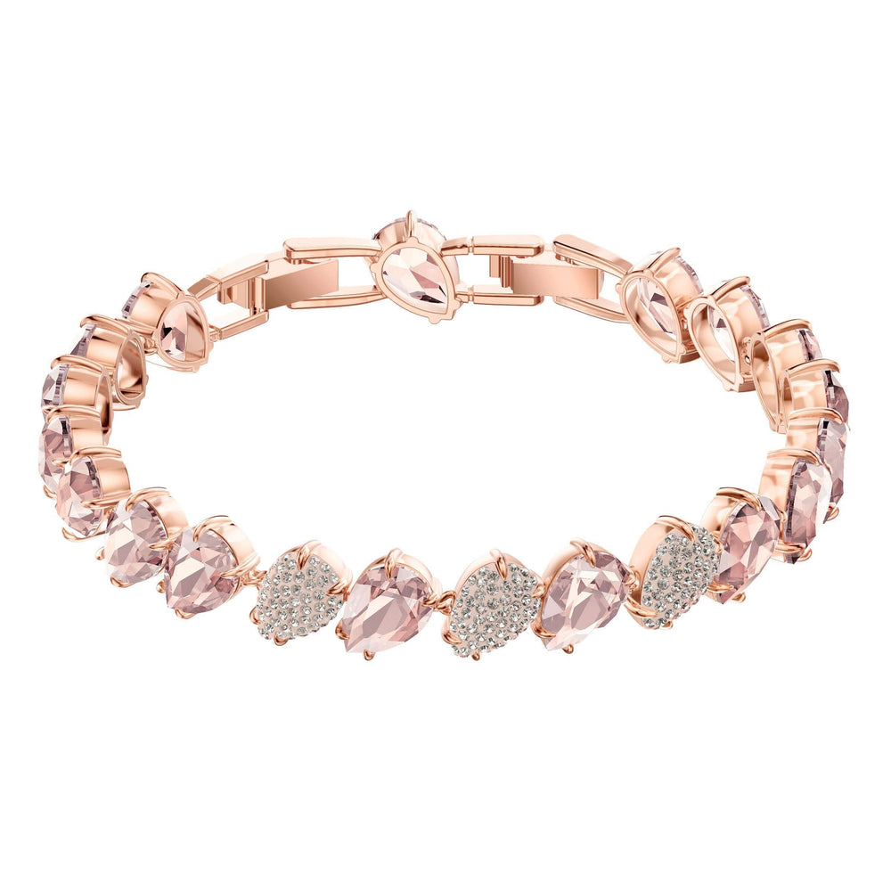 Swarovski Mix Bracelet, Pink, Rose Gold Plating