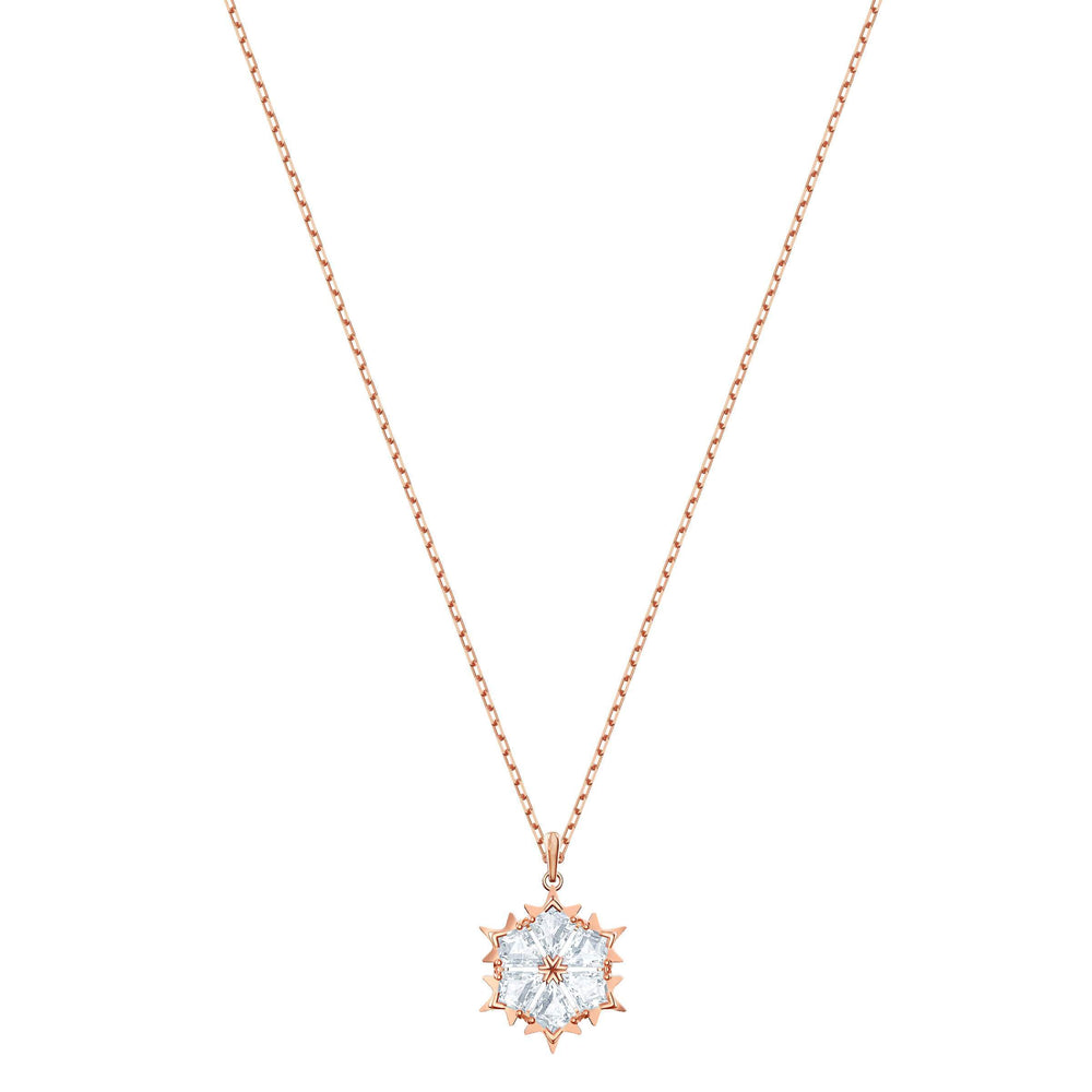 Swarovski Magic Pendant, White, Rose Gold Plating
