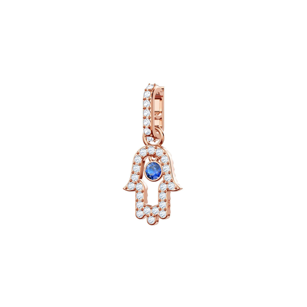 Swarovski Swarovski Remix Collection Charm, Hamsa, Multi-Colored, Rose Gold Plating