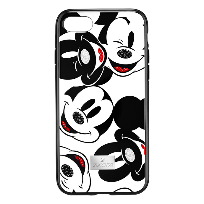 Mickey Face Smartphone Case with integrated Bumper, iPhone® 8 Plus, Black