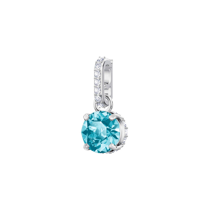 Swarovski Swarovski Remix Collection Charm, December, Blue, Rhodium Plating