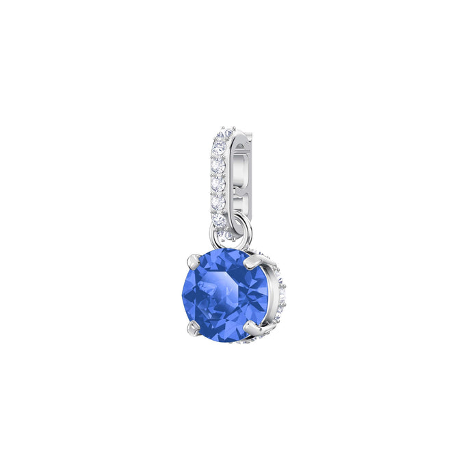 Swarovski Remix Collection Charm, September, Dark Blue, Rhodium Plating