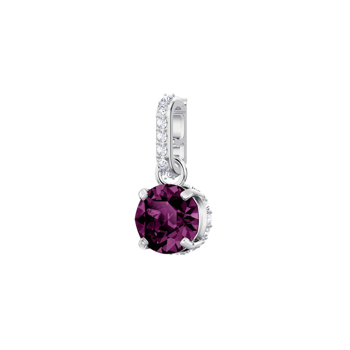 Swarovski Swarovski Remix Collection Charm, February, Purple, Rhodium Plating