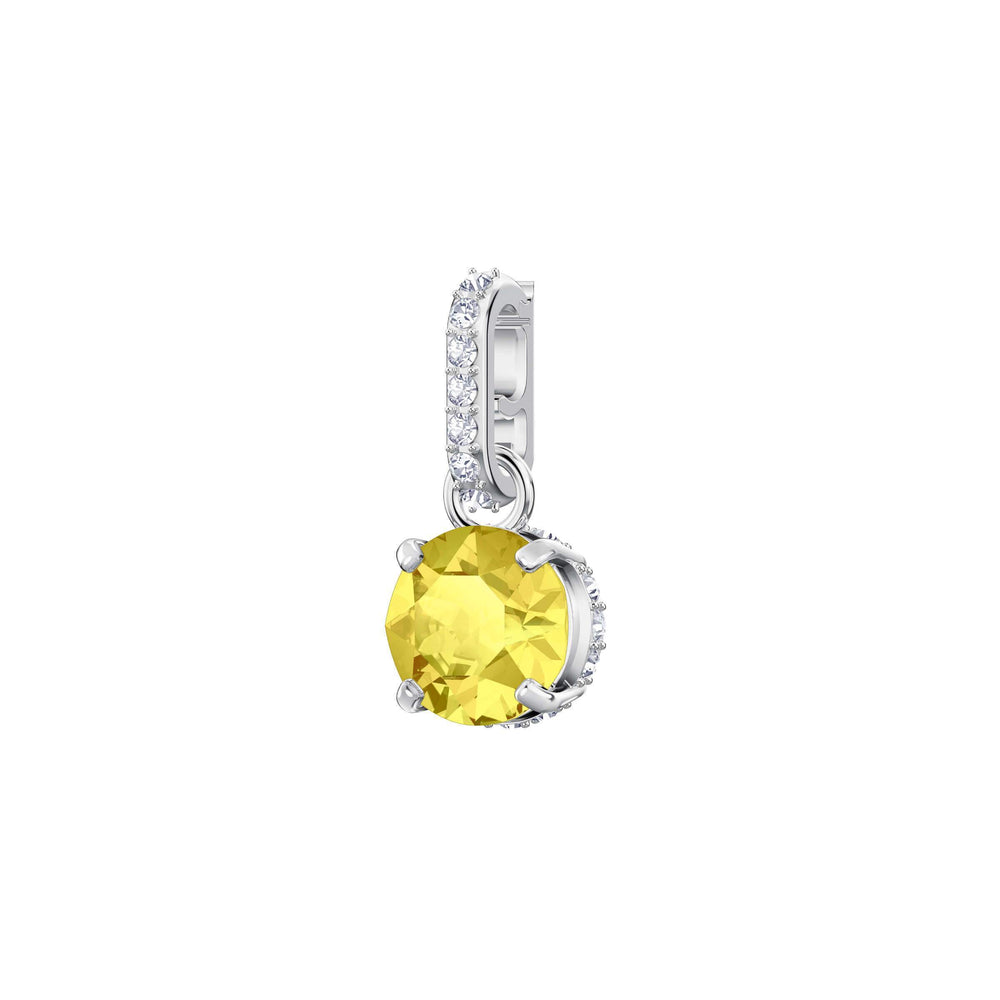 Swarovski Swarovski Remix Collection Charm, November, Yellow, Rhodium Plating