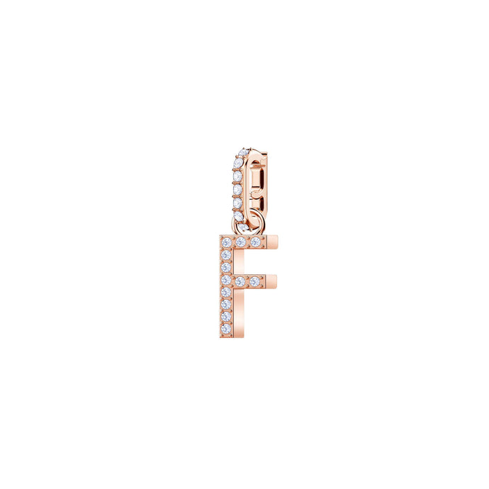 Swarovski Swarovski Remix Collection Charm F, White, Rose Gold Plating