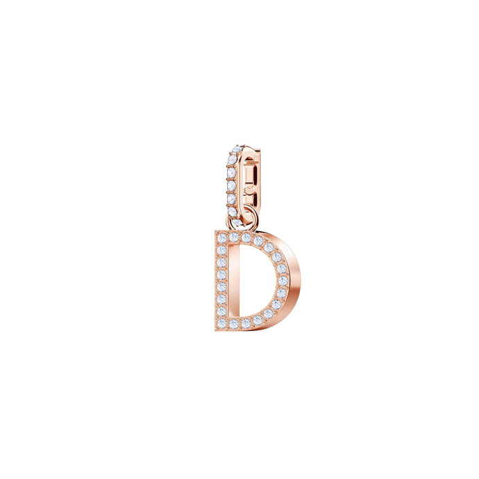 Swarovski Swarovski Remix Collection Charm D, White, Rose Gold Plating