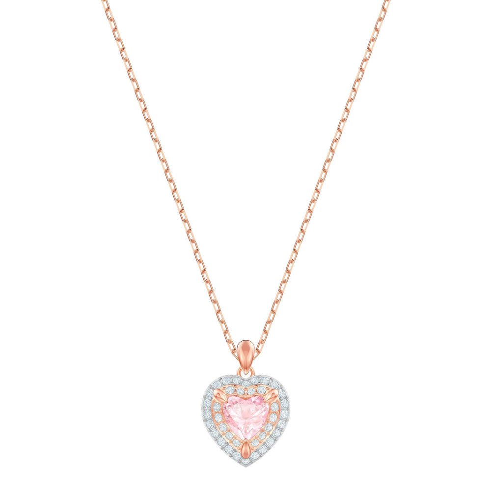Swarovski One Pendant, Multi-colored, Rose gold plating