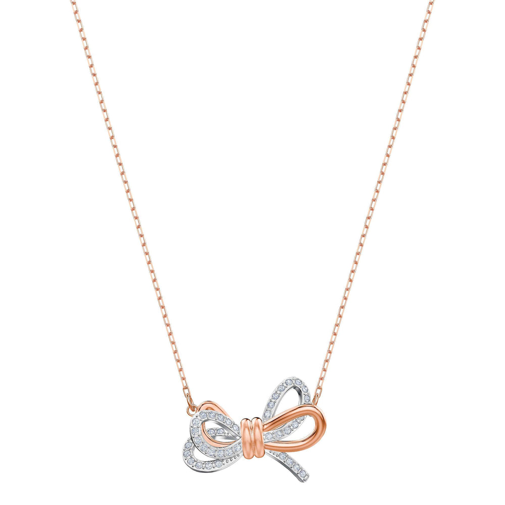 Swarovski Lifelong Bow Pendant, White, Mixed plating