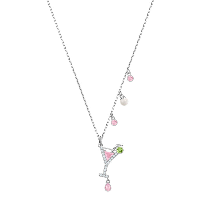 Swarovski No Regrets Cocktail Pendant, Multi-colored, Rhodium plating