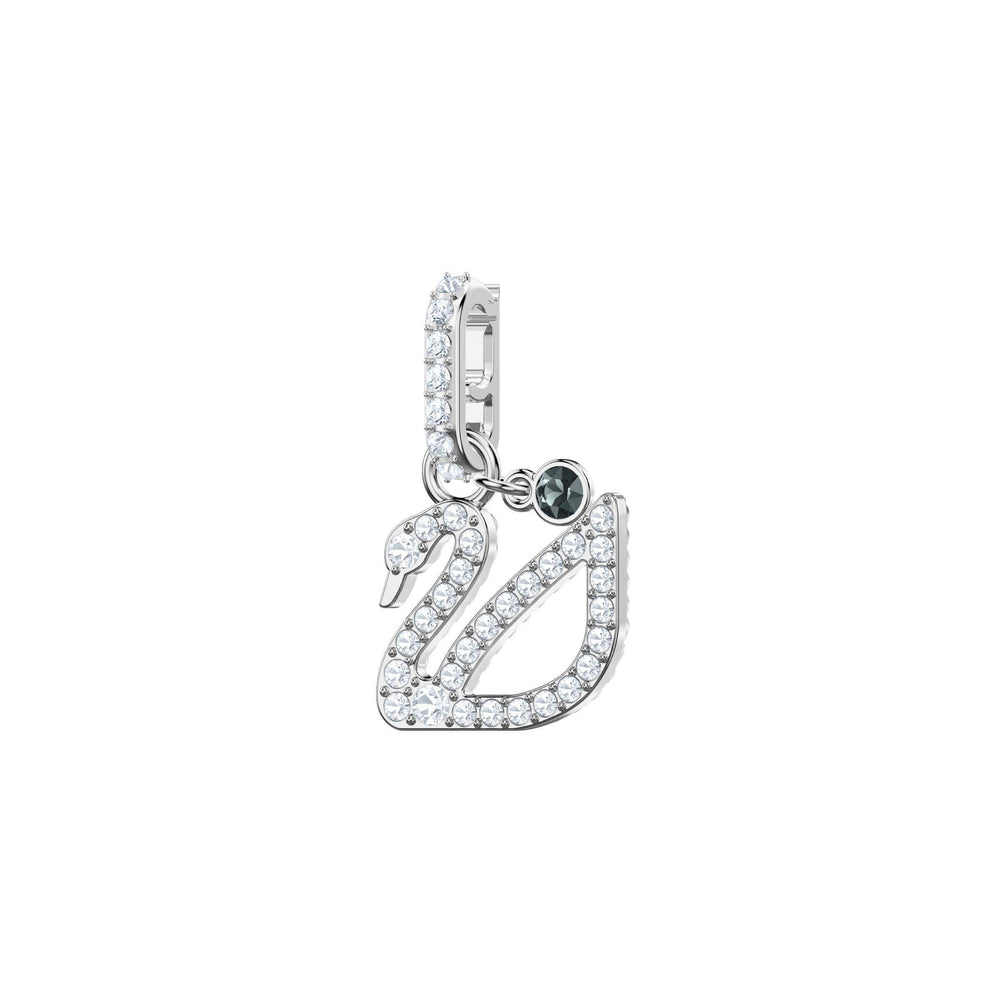 Swarovski Swarovski Remix Collection Charm, Swan, White, Rhodium Plating