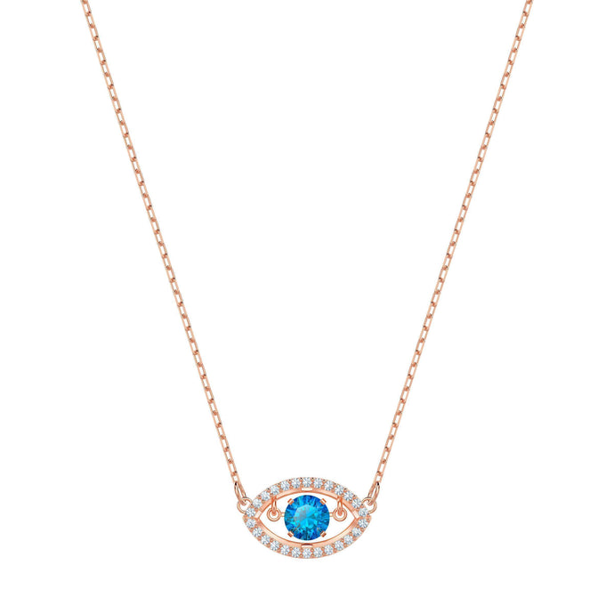 Swarovski Luckily Necklace, Multi-colored, Rose gold plating