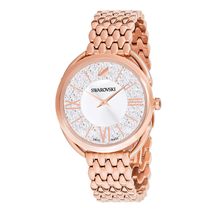 Swarovski Crystalline Glam Watch, Metal Bracelet, White, Rose gold tone