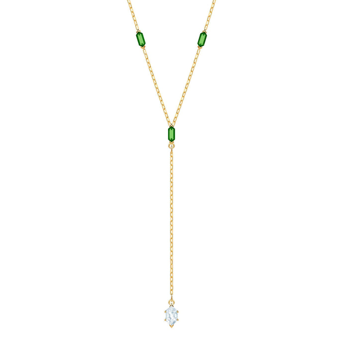 Oz Y Necklace, White, Gold plating