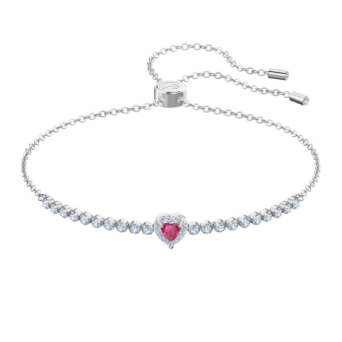 Swarovski One Bracelet, Red, Rhodium plating