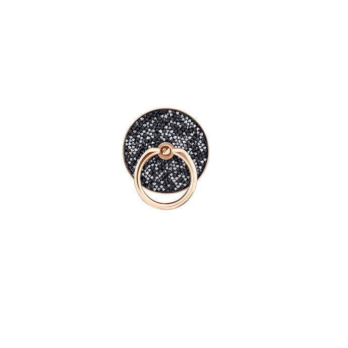 Swarovski Glam Rock Ring Sticker, Black, Mixed plating