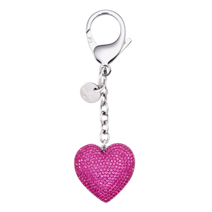 Swarovski Lovely Bag Charm, Fuchsia, Stainless Steel